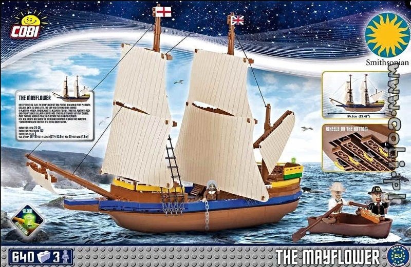 Cobi 21077 Loď Mayflower